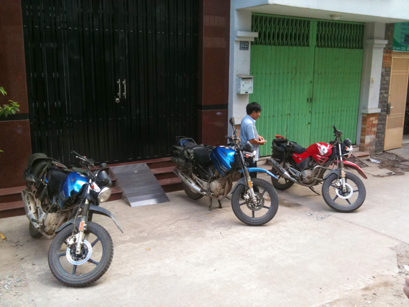 Final inspection on the bikes