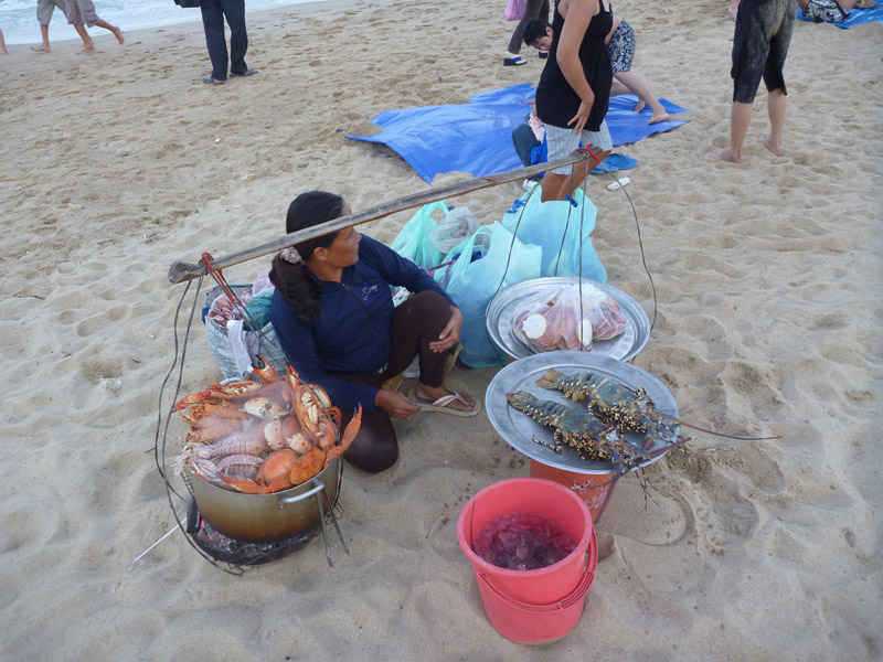 Seafood on the beach