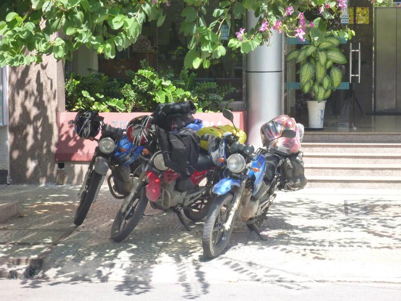 Loading up the bikes Nha Trang