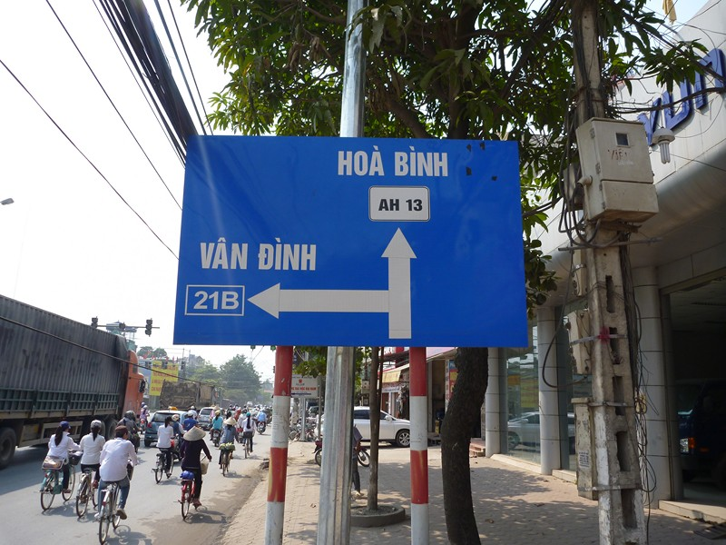 Hoa Binh road sign