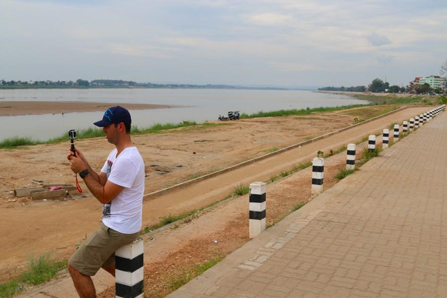 Mekong river looking at Thailand
