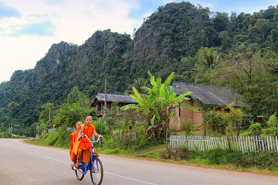 Monks on their bike